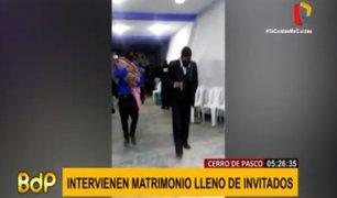 Pasco: intervienen a 50 personas que se disponían a celebrar matrimonio