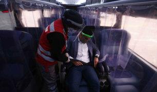 Arequipa: se reinició transporte interprovincial con estrictos protocolos sanitarios