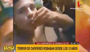 Los carroñeros de Barrios Altos: banda asaltaba a choferes y delinquían desde los 12 años