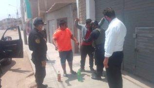 Lambayeque: PNP interviene a ciudadanos bebiendo licor en plena calle