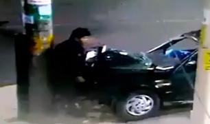 Tacna: policía choca auto contra poste y abandona a su compañero
