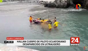 San Bartolo: Marina de Guerra halló cuerpo de ecuatoriano que desapareció tras caída de aeronave ultraligera