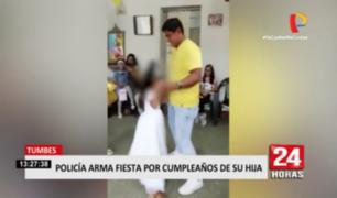Tumbes: Suboficial festejó cumpleaños de su hija con animadores y sin medidas de protección