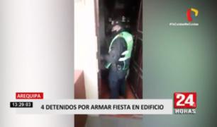 Arequipa: intervienen grupo de amigos que realizaron fiesta en un departamento
