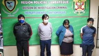 Chiclayo: familia dedicada a la venta de drogas fueron detenidos en sorpresivo operativo