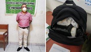 Fiscalía solicitó prisión preventiva para extranjero intervenido con dinero en mochila