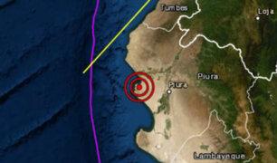 Piura: sismo de magnitud 3.9 se registró esta tarde en Sechura