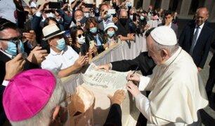 Papa Francisco volvió a reencontrarse con feligreses