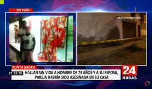 Punta Negra: hallan sin vida a pareja de esposos que habría sido asesinada en su casa