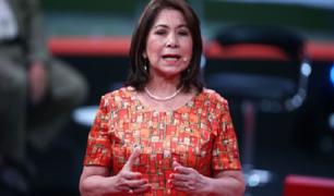 Martha Chávez retiró lo expresado sobre Vicente Zeballos