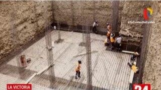 La Victoria: Construye reservorio subterráneo de agua para riego de áreas verdes