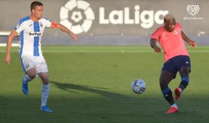 Luis Advíncula fue titular en amistoso entre Rayo Vallecano con Leganés