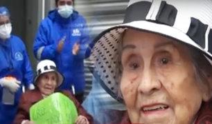 Abuelita de 97 años vence al COVID-19 en la Villa Panamericana