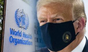 Trump donará 108 millones de dólares a la OMS pese a querer retirarse del organismo