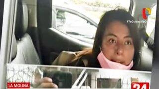 La Molina: Joven insulta a serenos que la intervinieron tras atacar a taxista