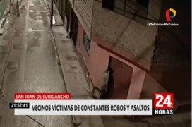 SJL: Vecinos denuncian que ladrones ingresan a viviendas en pleno toque de queda