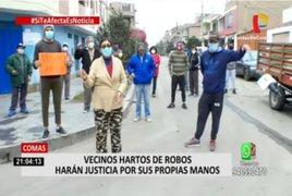Comas: Vecinos hartos de robos advierten que harán justicia por su propias manos