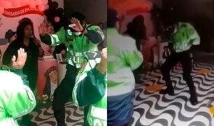 Chorrillos: policías celebran el día de Santa Rosa de Lima dentro de Comisaría