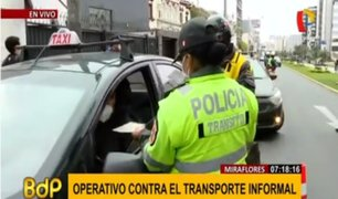 Miraflores continúa operativos contra taxis colectivos