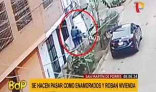 SMP: delincuentes se hacen pasar por enamorados para robar en vivienda