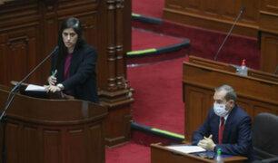 Ministra Alva: Congreso suspende hasta el lunes debate de interpelación
