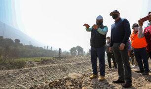 Alcalde Muñoz supervisó el inicio de los trabajos de descolmatación en el río Rímac