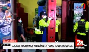 Huarochirí: clausuran 5 locales nocturnos que funcionaban pese a prohibición