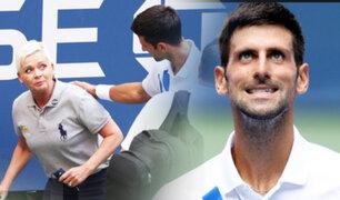 Descalifican a Djokovic del US Open por dar pelotazo a una jueza