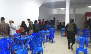 Chiclayo: detienen a 70 personas en operativo a fiestas en tres locales