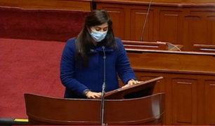 Ministra Alva: bancadas del Congreso presentaron moción de censura