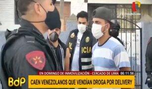 Cercado de Lima: sujetos vendían droga 'delivery' en domingo de inamovilidad