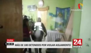 Piura: alcalde encabezó operativos donde se intervino a más de 100 personas