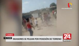 Tumbes: pobladores se pelean con palos y piedras por un terreno invadido