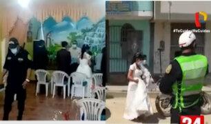 Novios, invitados y pastor acaban en la comisaría por casarse en pleno estado de emergencia