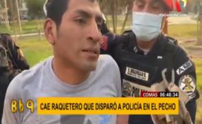 Capturan a delincuente que disparó a policía en Comas