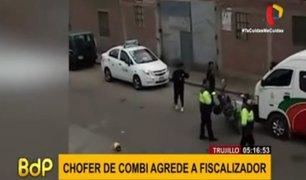 Trujillo: chofer de combi agrede a fiscalizadores de tránsito
