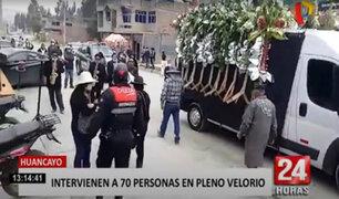 Huancayo: detienen a 70 personas y una orquesta en velorio