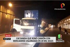 Breña: Cae banda que robó camión con mercadería valorizada en 20 mil soles