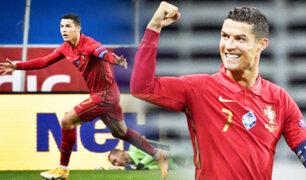 Cristiano Ronaldo marcó doblete y llega a 101 goles con Portugal