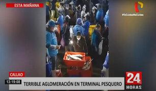 Ventanilla: reportan aglomeración de personas en Terminal Pesquero