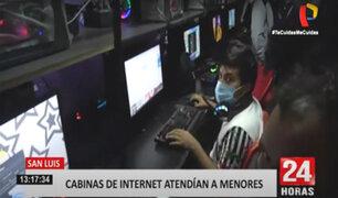 San Luis: clausuran cabinas de internet clandestina que albergaba mayormente a menores
