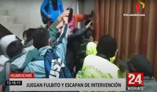 COVID-19: cerca de 20 detenidos por jugar 'fulbito' escaparon de la Policía