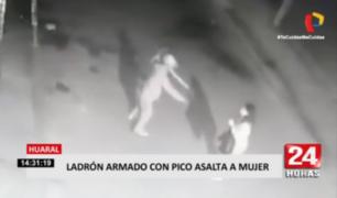 Huaral: ladrón amenazó con pico a mujer para robarle