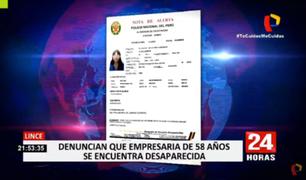 Lince: empresaria es reportada como desaparecida desde hace varias semanas