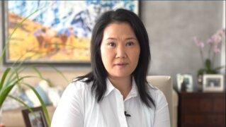 """Keiko Fujimori: """"No existen los elementos ni los procedimientos para vacar a Martín Vizcarra"""""""