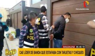 Magdalena: detienen a presunto cabecilla de banda de estafadores