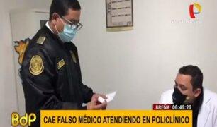 Breña: cae falso médico que atendía pacientes COVID-19