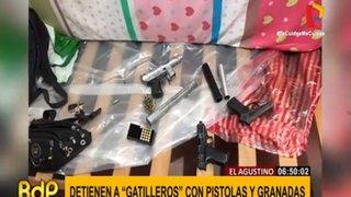 El Agustino: capturan a miembro de banda criminal con granadas y armas