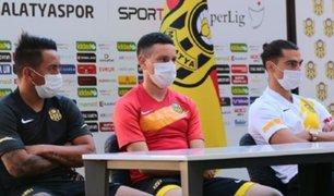 Cueva se alista para su debut tras presentación con el Yeni Malatyaspor