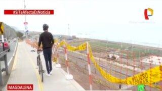 Ciclistas viven constante peligro en ciclovía de bajada Marbella